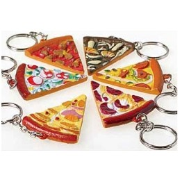 Pizza Slice Key Chain