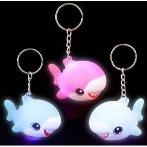 Light Up Shark Pup Keychain