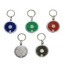 Round LED Flashlight Key Chain