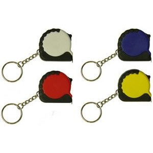 Tape Measure Keychain w/ Tire Tread Edge